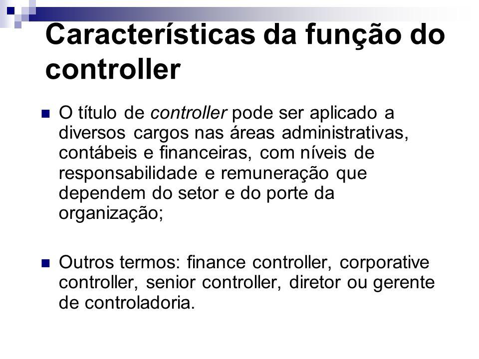 Características da função do controller