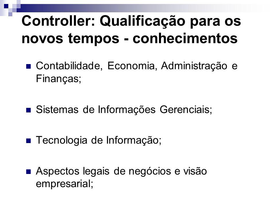 Controller: Qualificação para os novos tempos - conhecimentos