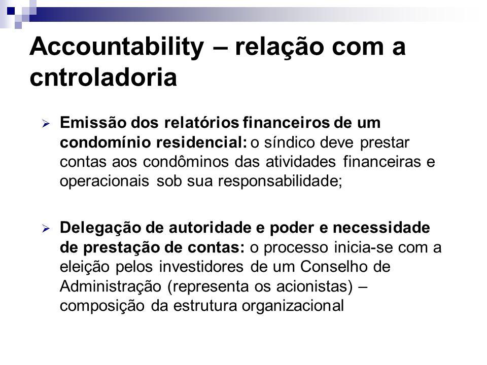 Accountability – relação com a cntroladoria