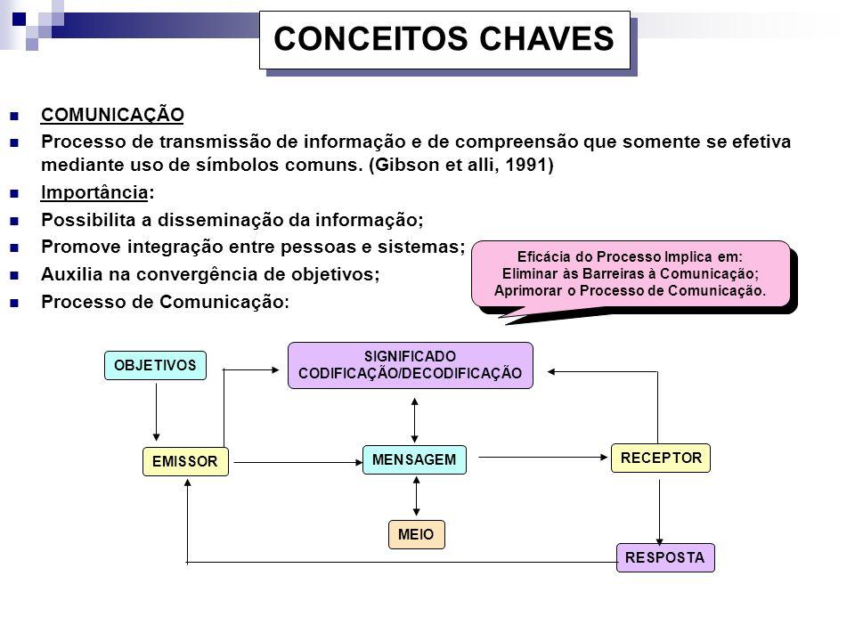 CONCEITOS CHAVES COMUNICAÇÃO