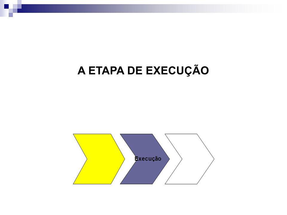 A ETAPA DE EXECUÇÃO Execução