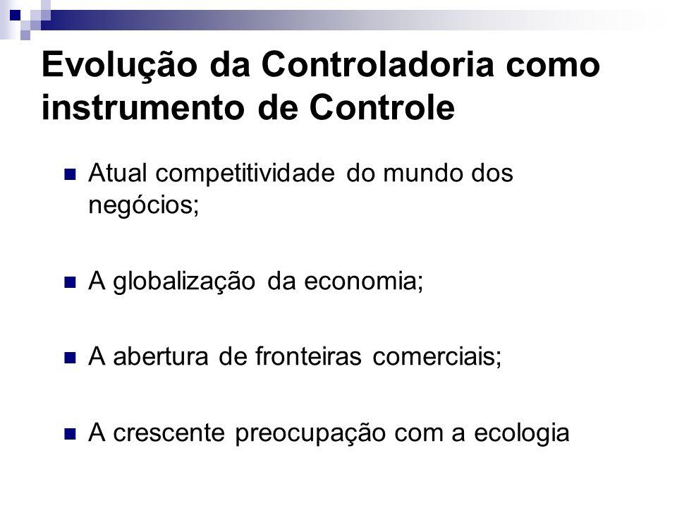 Evolução da Controladoria como instrumento de Controle