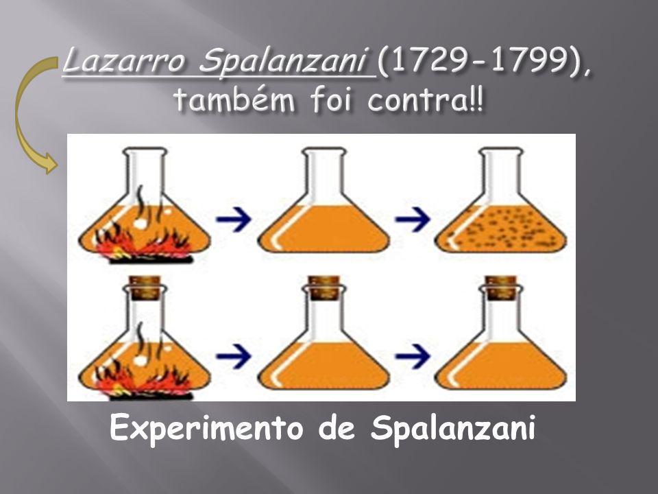 Lazarro Spalanzani (1729-1799), também foi contra!!