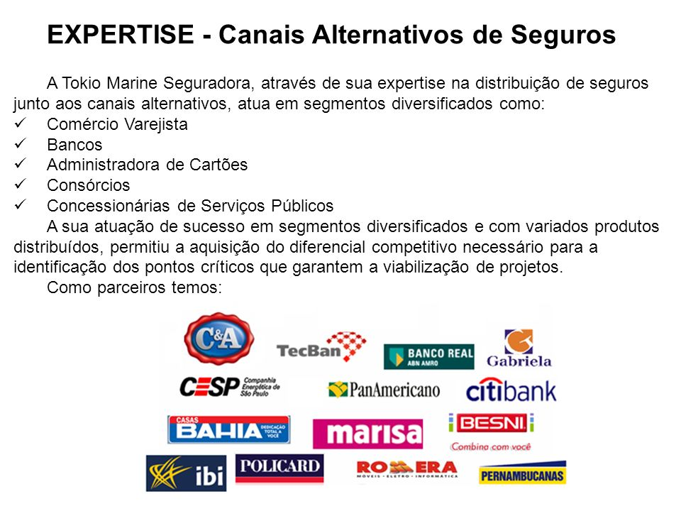 EXPERTISE - Canais Alternativos de Seguros