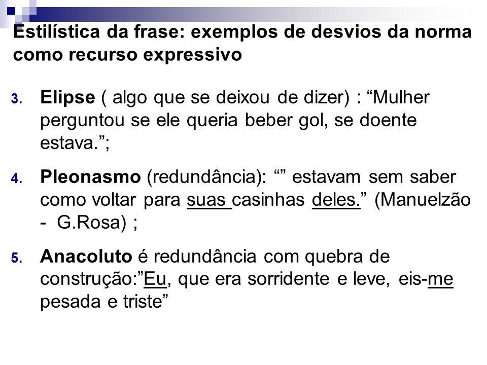 Estilística da frase: exemplos de desvios da norma como recurso expressivo