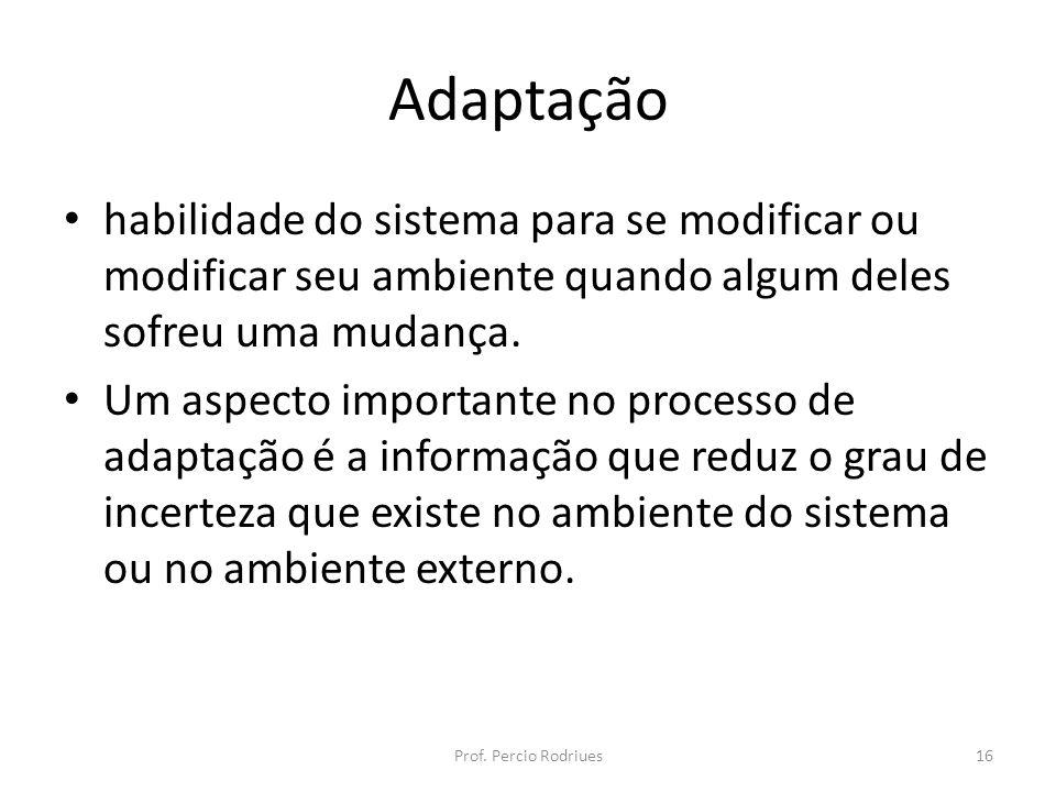 Adaptaçãohabilidade do sistema para se modificar ou modificar seu ambiente quando algum deles sofreu uma mudança.