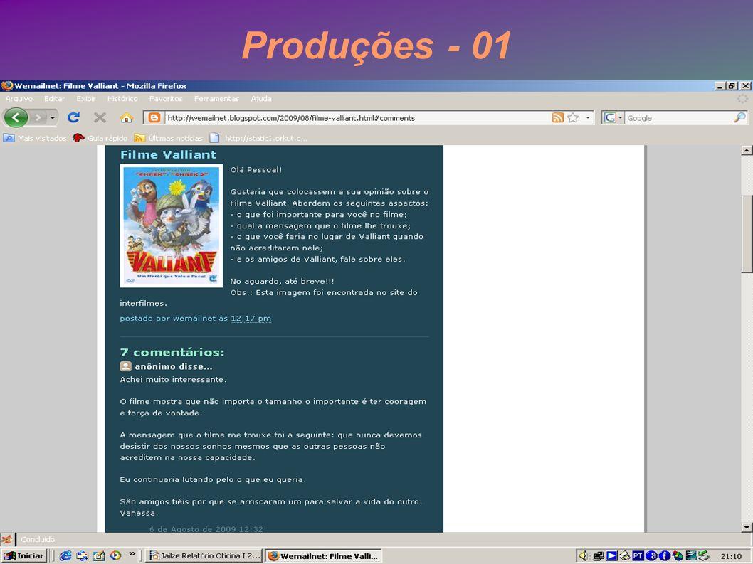 Produções - 01