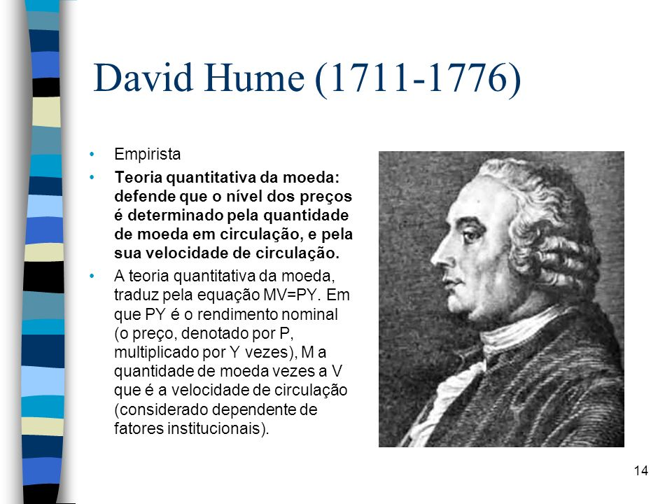 David Hume (1711-1776) Empirista