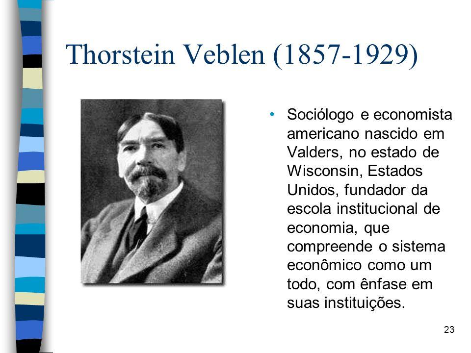Thorstein Veblen (1857-1929)