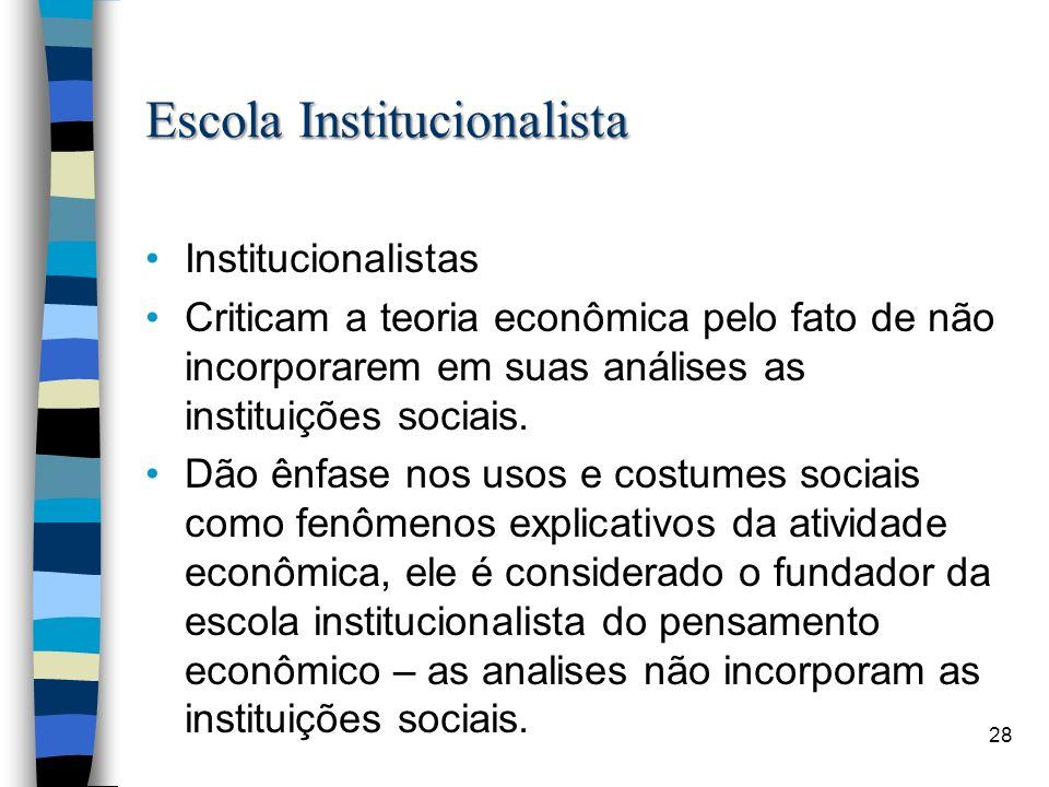 Escola Institucionalista