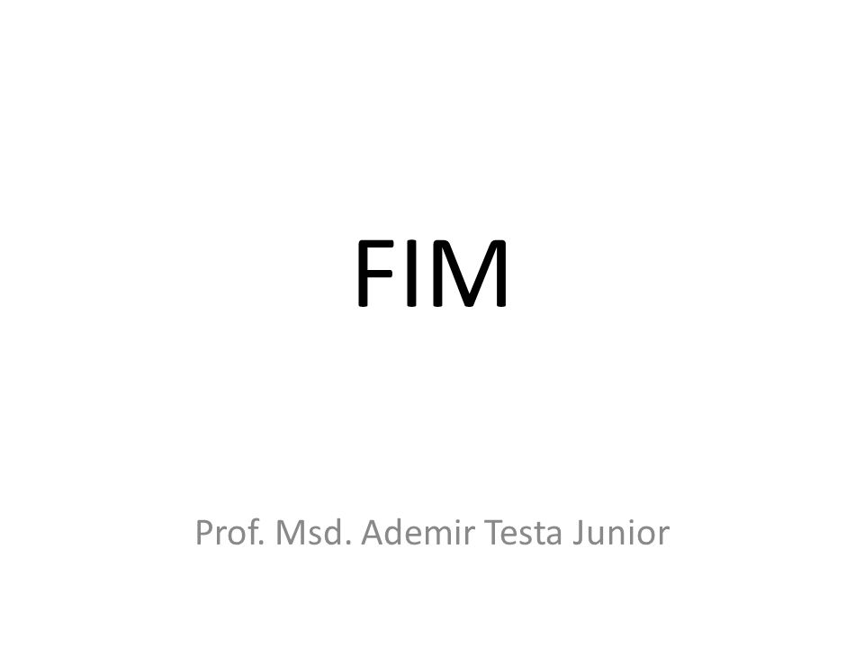 Prof. Msd. Ademir Testa Junior