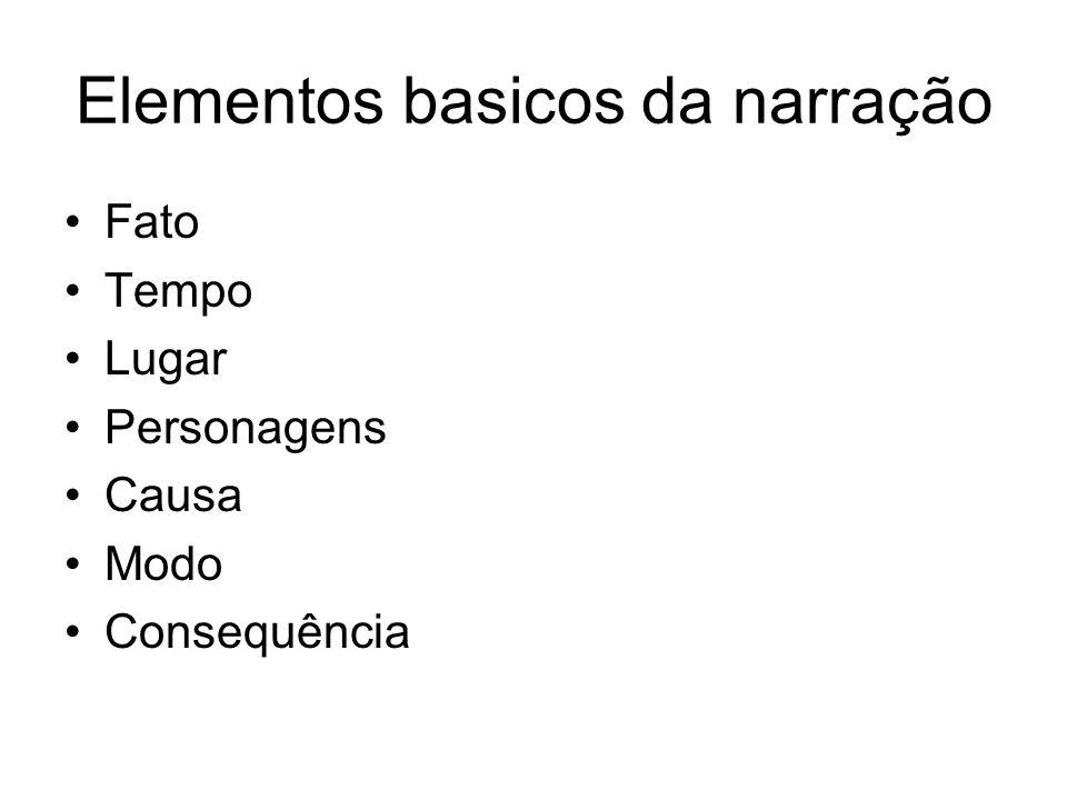 Elementos basicos da narração