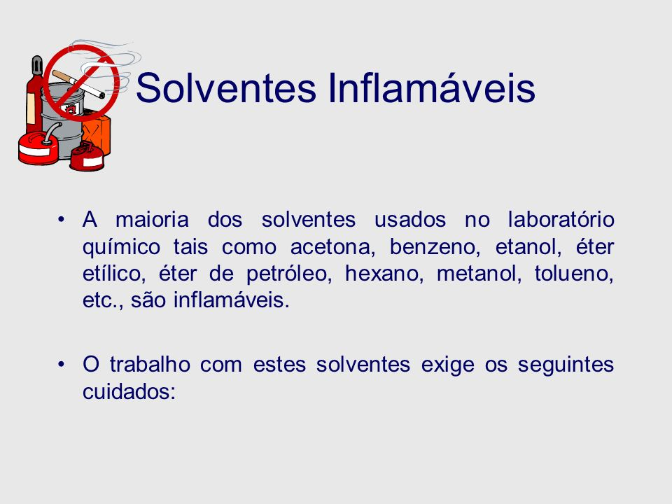 Solventes Inflamáveis