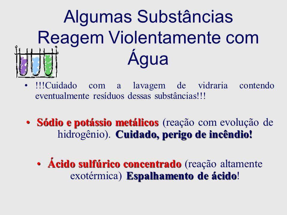 Algumas Substâncias Reagem Violentamente com Água