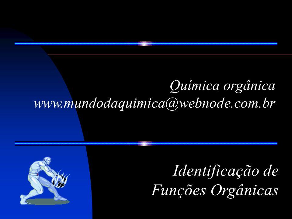 Identificação de Funções Orgânicas