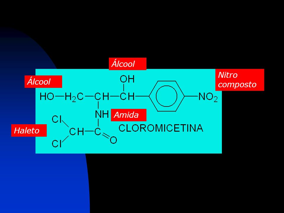 Álcool Nitro composto Álcool Amida Haleto