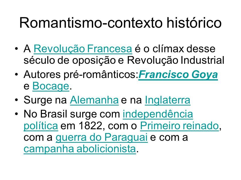 Romantismo-contexto histórico