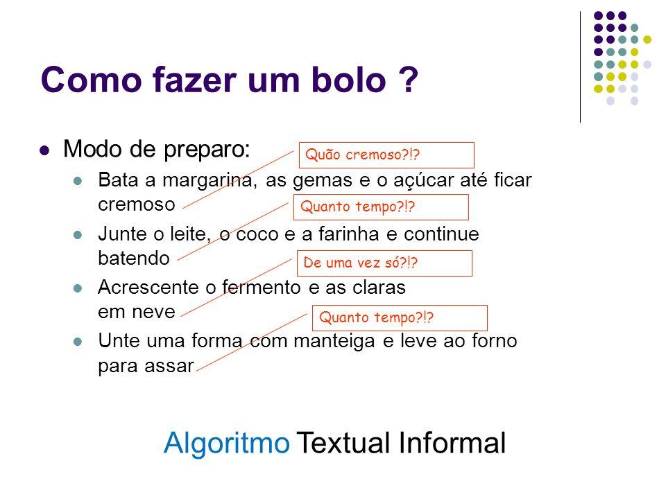 Algoritmo Textual Informal