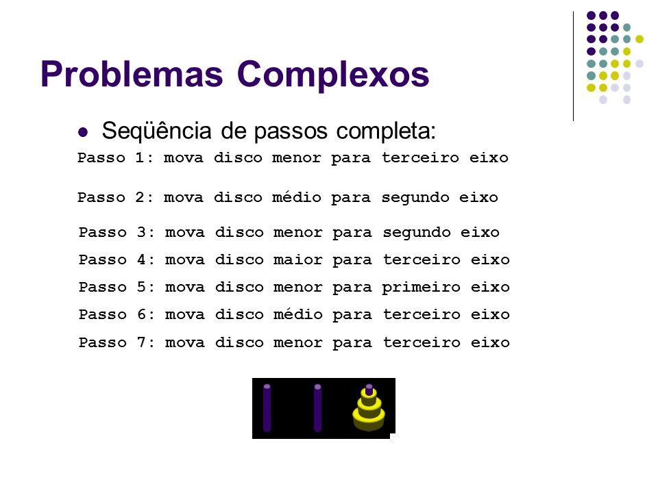 Problemas Complexos Seqüência de passos completa: