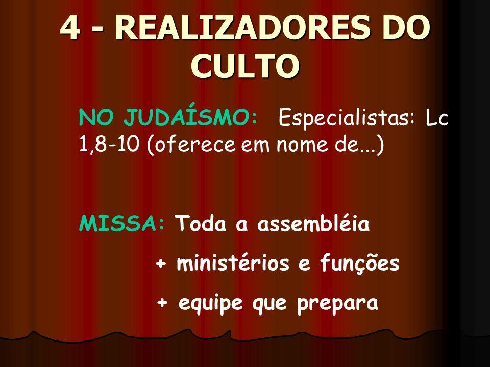 4 - REALIZADORES DO CULTO
