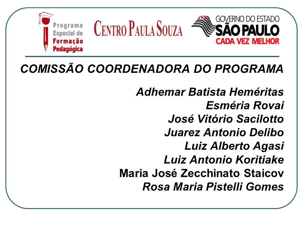 COMISSÃO COORDENADORA DO PROGRAMA