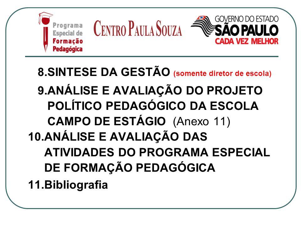 8.SINTESE DA GESTÃO (somente diretor de escola)