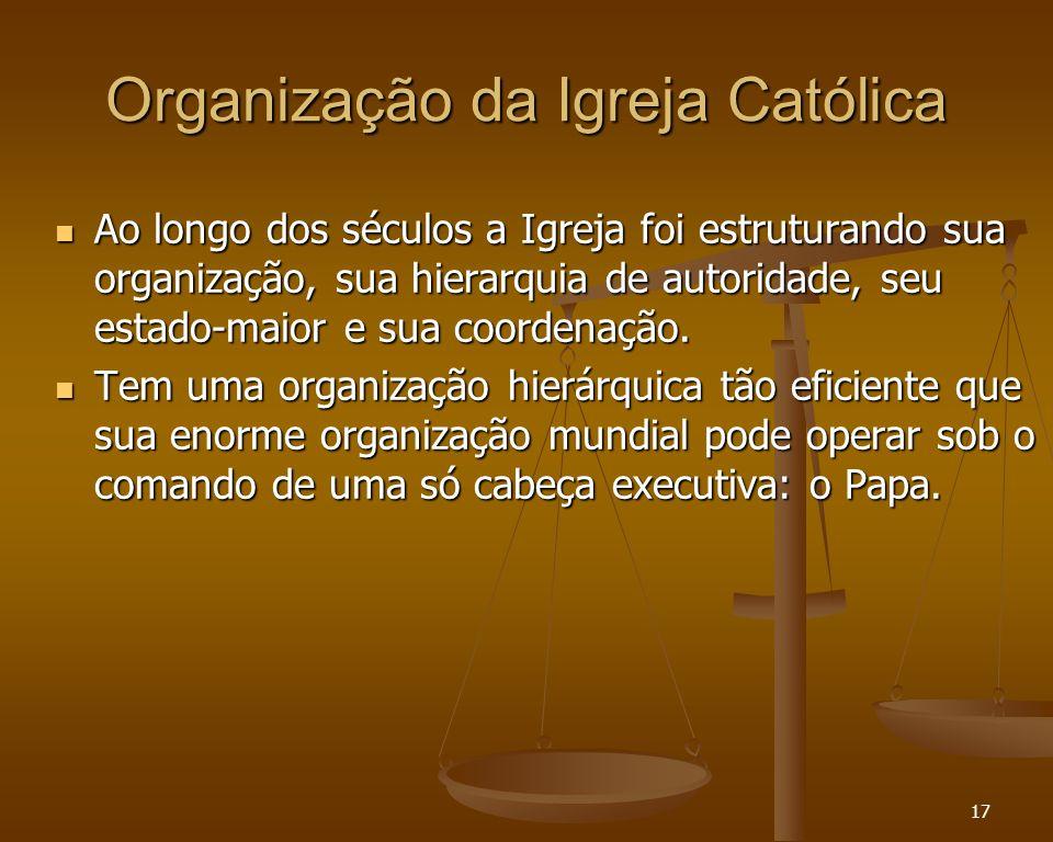 Organização da Igreja Católica