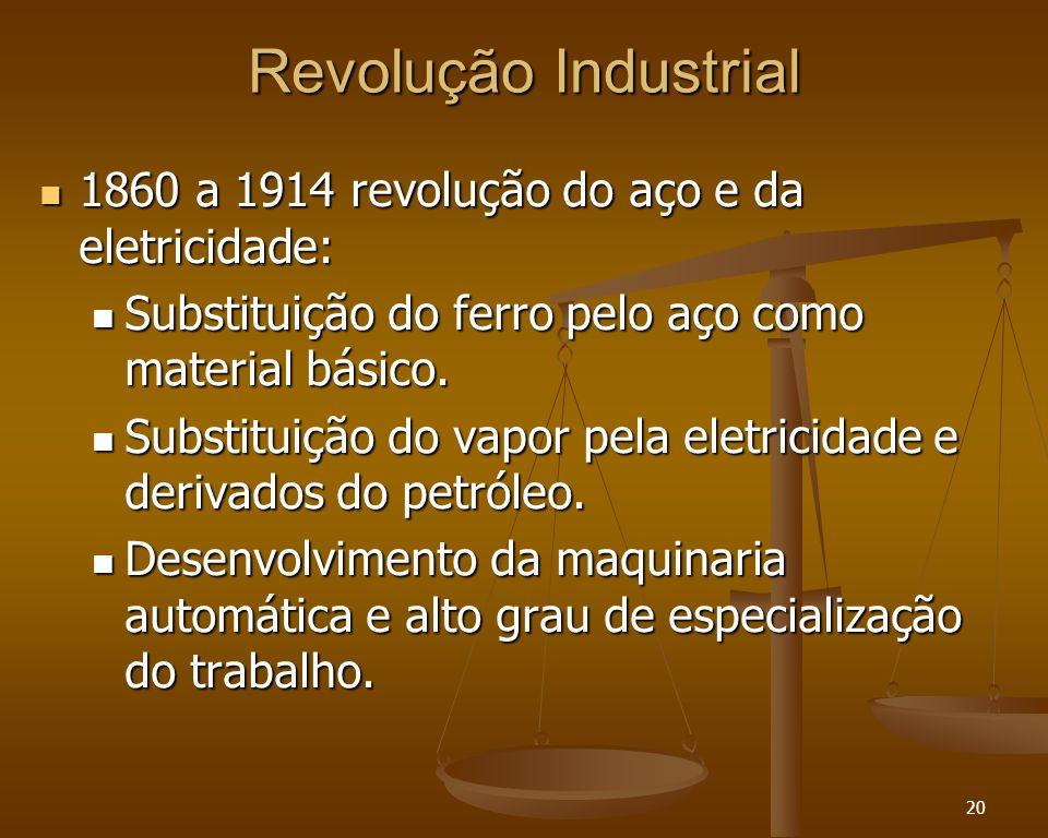 Revolução Industrial 1860 a 1914 revolução do aço e da eletricidade: