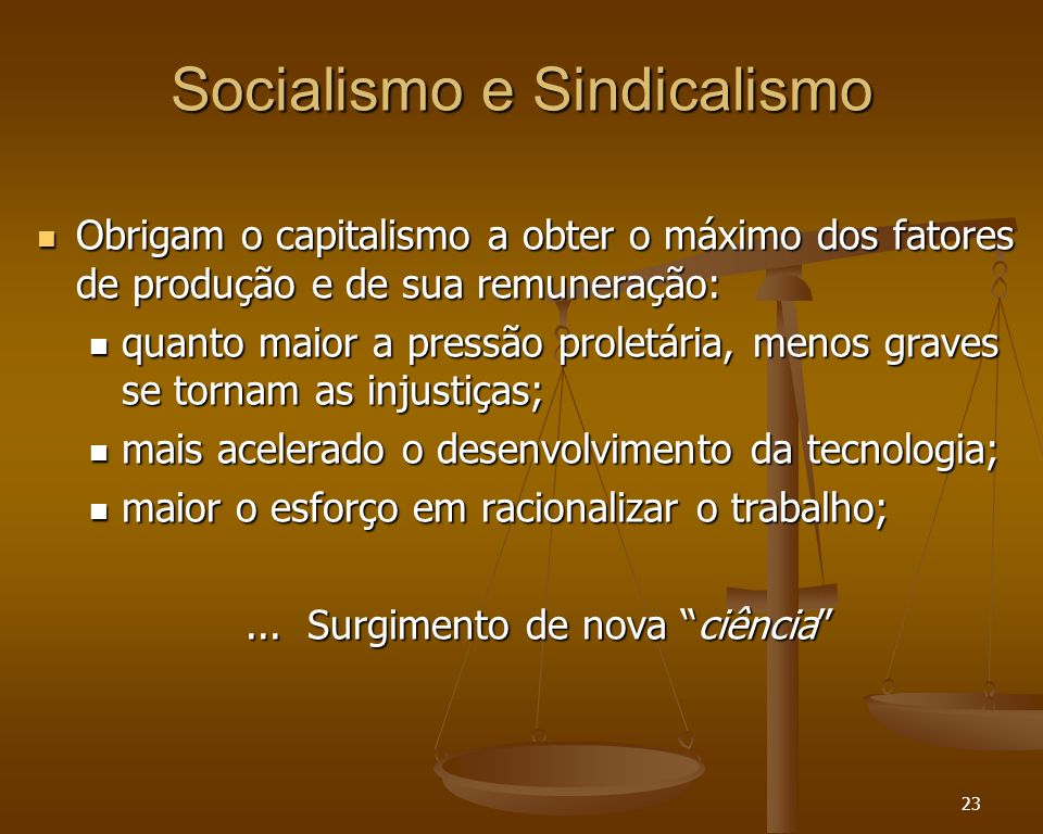 Socialismo e Sindicalismo