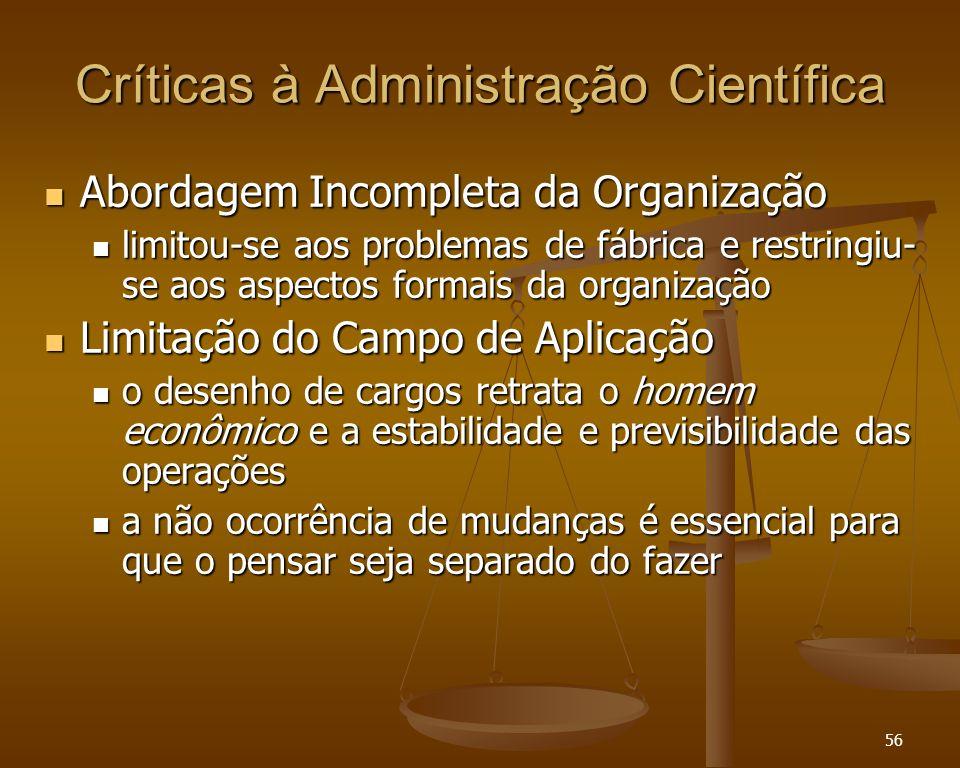 Críticas à Administração Científica