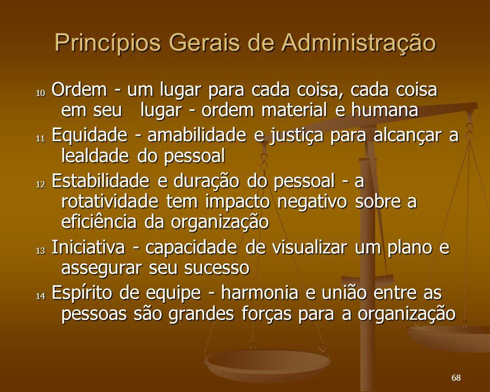 Princípios Gerais de Administração