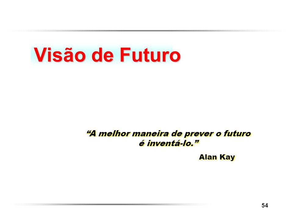 A melhor maneira de prever o futuro é inventá-lo.