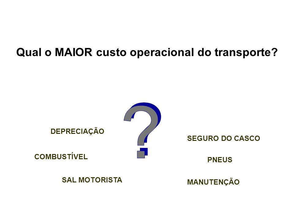 Qual o MAIOR custo operacional do transporte