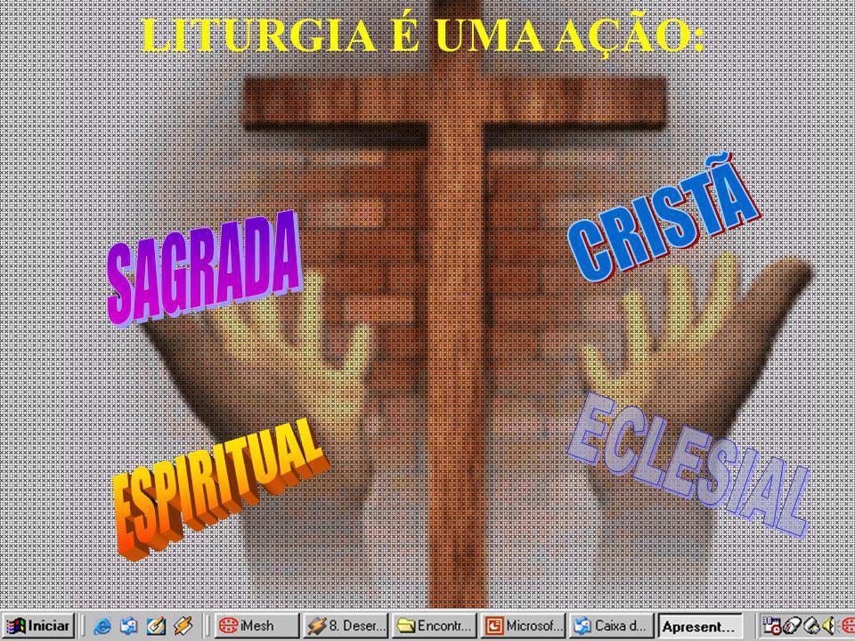 LITURGIA É UMA AÇÃO: CRISTÃ SAGRADA ESPIRITUAL ECLESIAL