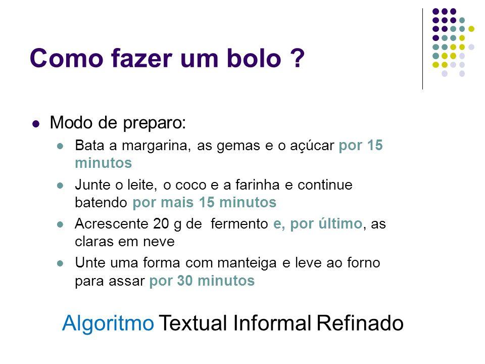 Algoritmo Textual Informal Refinado