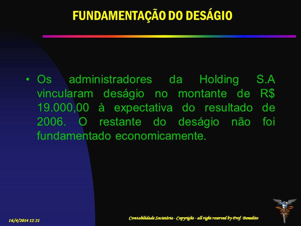 FUNDAMENTAÇÃO DO DESÁGIO