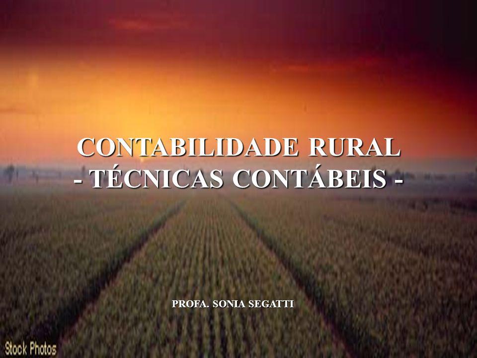CONTABILIDADE RURAL - TÉCNICAS CONTÁBEIS -
