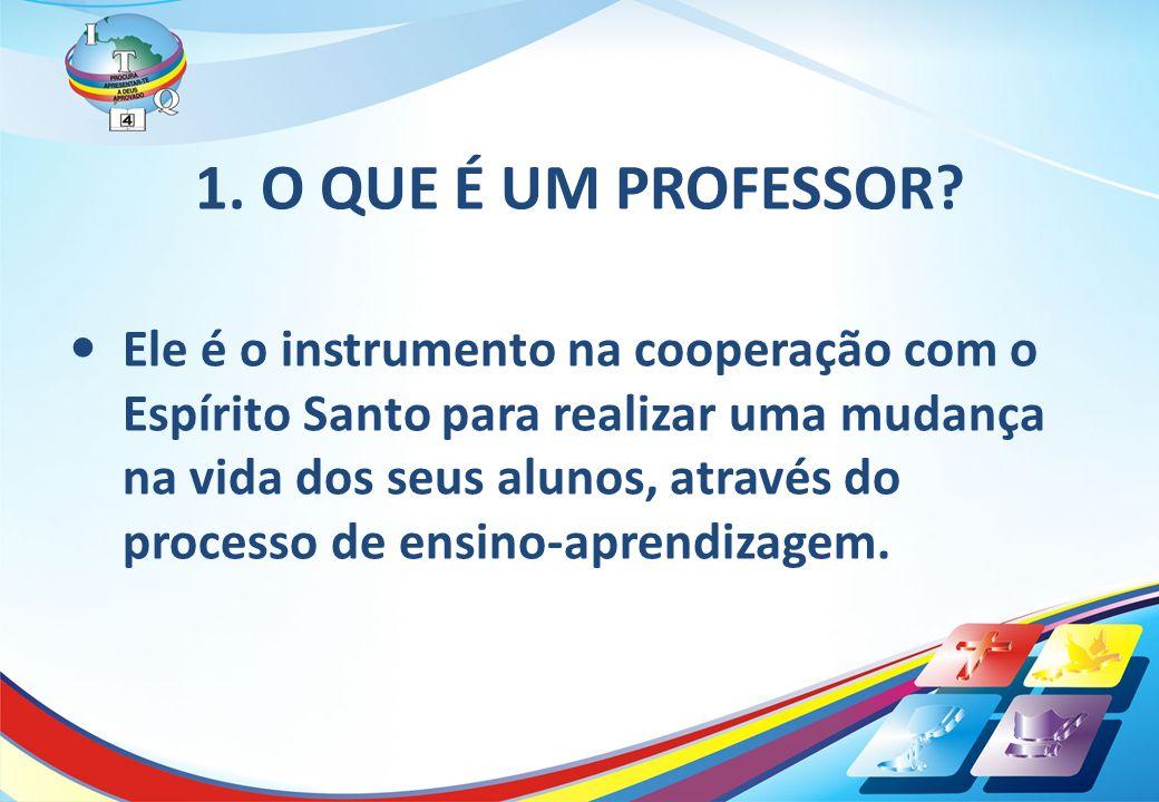 1. O QUE É UM PROFESSOR