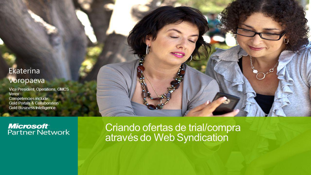 Criando ofertas de trial/compra através do Web Syndication
