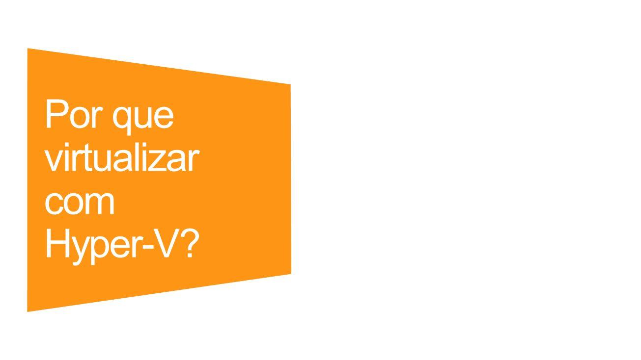 Por que virtualizar com Hyper-V