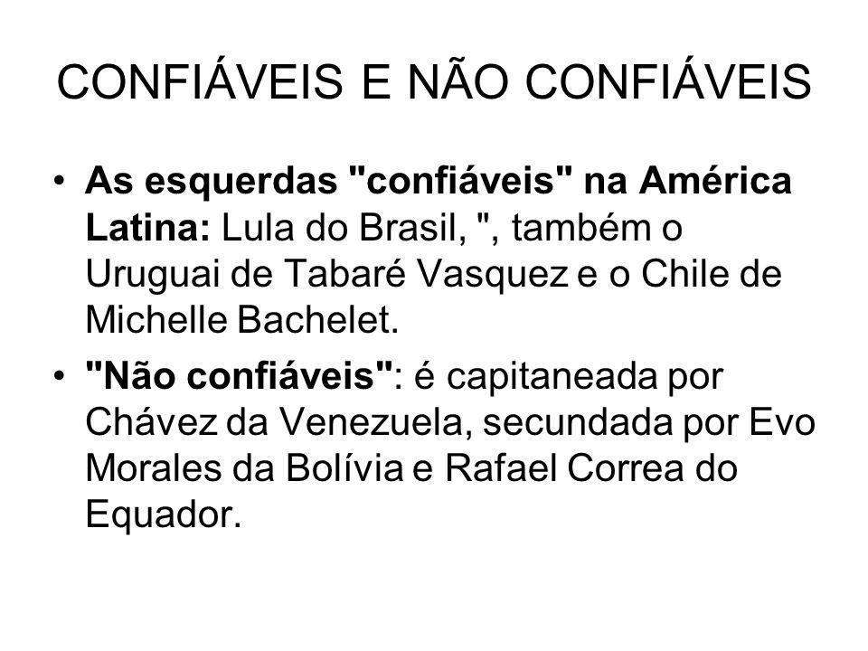 CONFIÁVEIS E NÃO CONFIÁVEIS