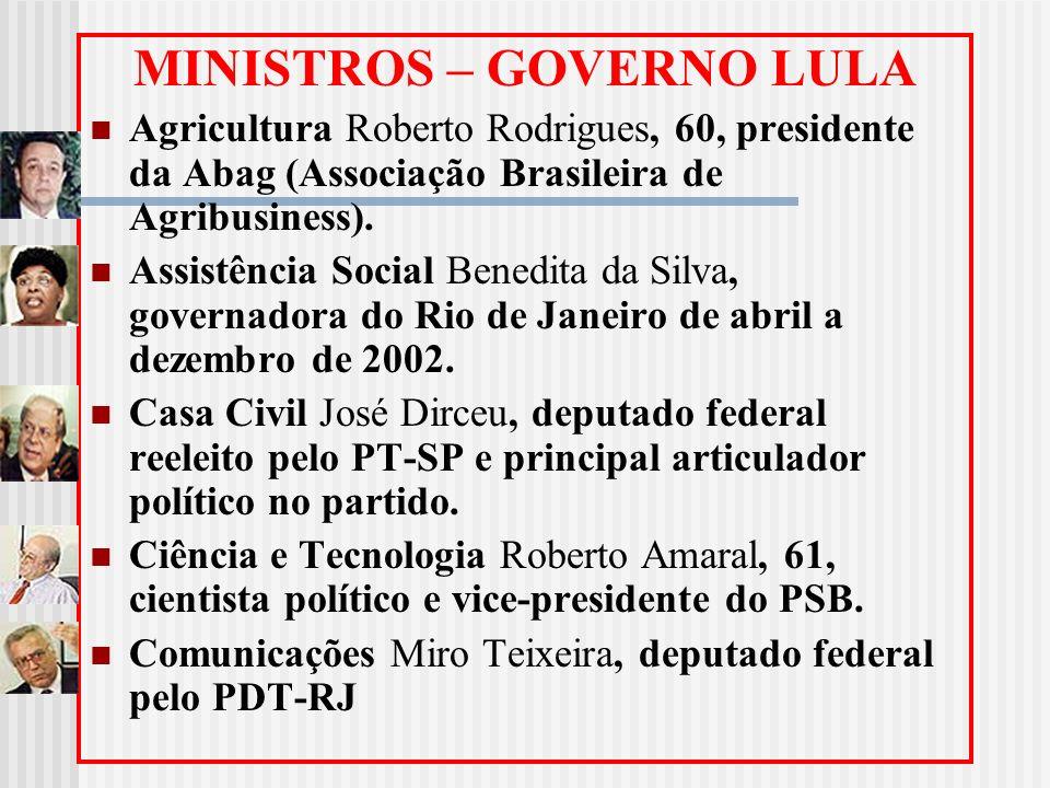 MINISTROS – GOVERNO LULA