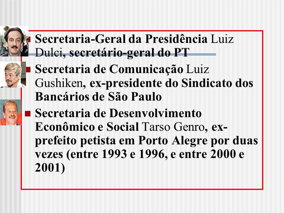 Secretaria-Geral da Presidência Luiz Dulci, secretário-geral do PT