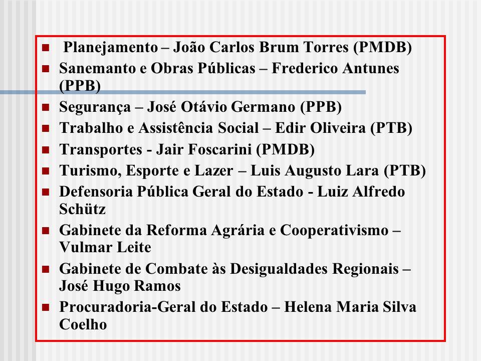Planejamento – João Carlos Brum Torres (PMDB)