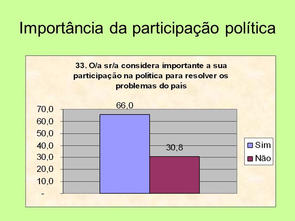 Importância da participação política