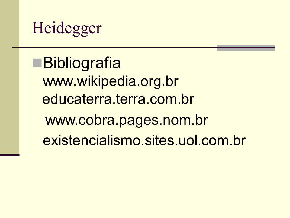 Heidegger Bibliografia www.wikipedia.org.br educaterra.terra.com.br