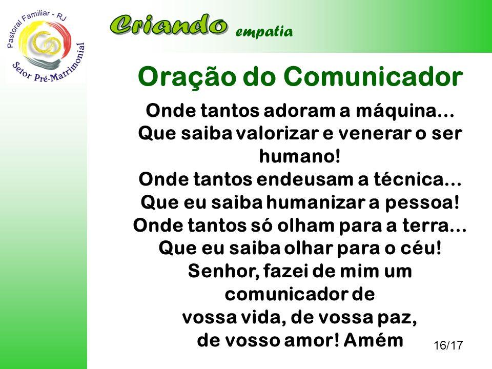 Oração do Comunicador Criando
