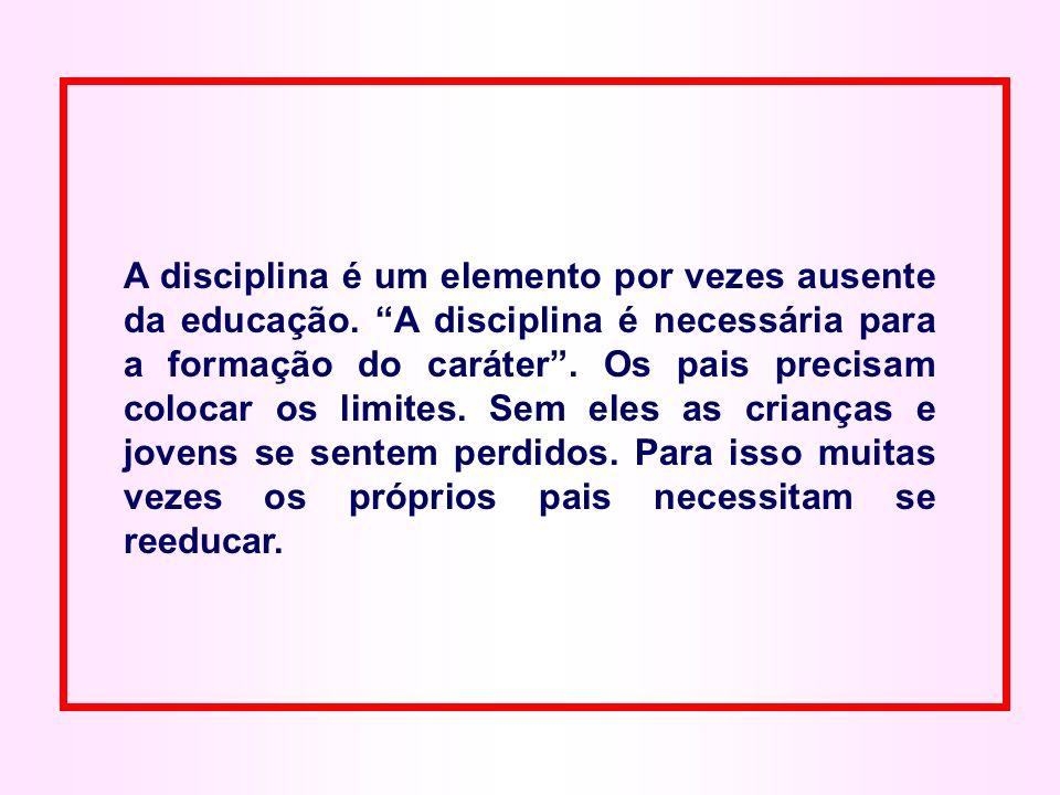 A disciplina é um elemento por vezes ausente da educação