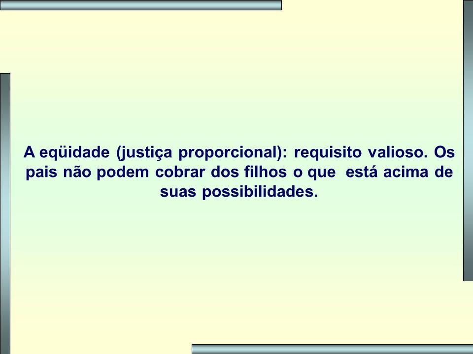 A eqüidade (justiça proporcional): requisito valioso