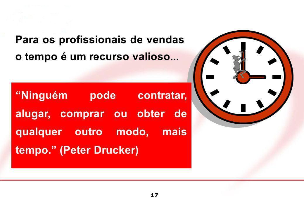 Para os profissionais de vendas o tempo é um recurso valioso...